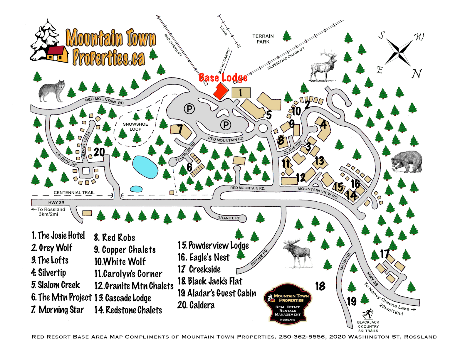 Mountain Town Properties location map